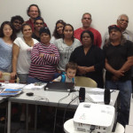 Some participants at the Barngarla Aboriginal language reclamation workshop, Port Augusta, South Australia, 15 April 2013